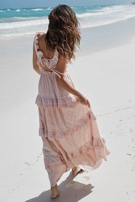 Puerta - Zwiewna suknia o długości maxi