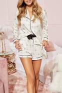 Piżama Anette - komplecik w odcieniu śmietankowym