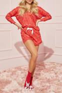 Piżama Polly - komplecik w odcieniu czerwonym